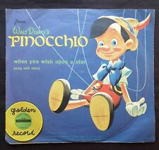 Walt Disney's PINOCCHIO . When You Wish Upon A Star . Picture Sleeve ONLY U387