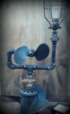 Authentic Industrial steampunk lamp iron pipe edison (propeller)