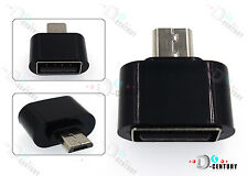 Micro USB Male to USB 2.0 Host OTG Adapter Converter For Android Tablet RF Black