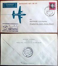 ENGROS 10x Brief Dresden Karl-Marx-Stadt Lufthansa 1958 DDR Luftpost DH 57 (IA09