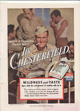 WWII: CHESTERFIELD Cigarette Advert. (1943) ~Seagram's 7 Crown Christmas Carol~
