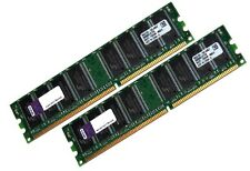 Kingston 2x 1GB 2GB RAM PC Speicher DDR 400 Mhz 64Mx8 DIMM PC3200 Markenspeicher