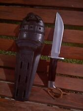 rare vintage Buck 122 Nemo Knife-brown spacers- with original sheath!!- LOOK!