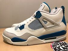 2012 NIKE AIR JORDAN RETRO 4 IV MILITARY BLUE SIZE 10 NDS