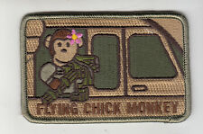 CHICK FLYING TRUNK MONKEY morale patch,desert, full hook backing