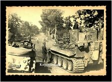 Foto alemán Wehrmacht tanques Tiger convertible Skull Crew char German tank WW 2