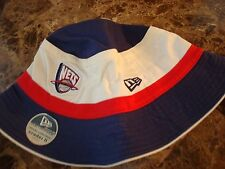 NEW JERSEY NETS   NEWERA  LG/XL BAR SCRIPT   hat cap BUCKET FLOPPY BEACH