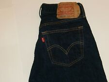 Men's Levis 501 XX Dark Wash Selvedge Jeans Tag Size 33X34 (30.5X31) Little e