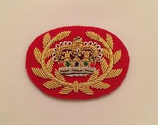 WO2 RQMS Crown & Wreath, Warrant Officer, Mess Dress, Red, Army, Military