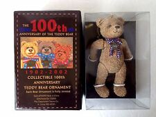 the 100th anniversary of the teddy bear 1902-2002 figurine ~Ornament NEW in Box