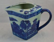 Victoria Flow Blue Ironstone Reproduction Pitcher Unusual Shape