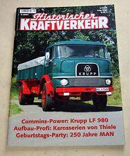 Historischer Kraftverkehr,  LKW HiK , Ausgabe 4 / 2008 , Krupp LF 980