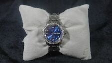 Sartego Women's SSBL65 Classic Analog Metallic Blue Face Swarovski Bezel Watch