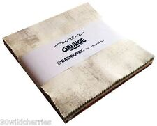 """5"""" Squares New Grunge Charm Pack Moda Fabric Quilt 100% Cotton"""