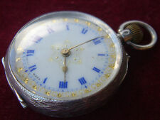 Sterling Silver,Antique,Swiss Made, Hallmarked, Ladies Fob Watch.
