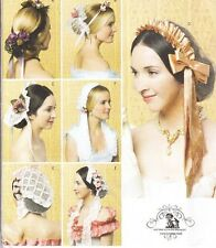 Butterick 5663 Costume Sewing Pattern Ladies Historical Headpiece Snood Hats Bow