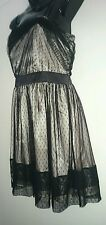 Ladies size 12 Lacey black & gold evening dress BNWT