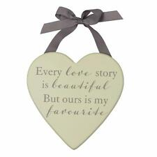 Every Love Story Is Beautiful Wedding Or Love Gift Plaque In Box WG591