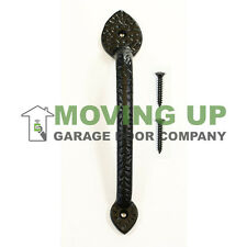 "Garage Door Decorative Spear Pull Handle 10"" Cast Iron + Hardware"