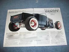 "1930 Ford Roadster Pick Up Hot Rod Article ""Mistaken Identity"" Mercury"