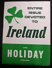 1963 ADVERTISING POSTER -  HOLIDAY MAGAZINE, ENTIRE ISSUE DEVOTED TO IRELAND