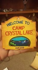 Custom Friday the 13th Jason voorhees handmade Camp Crystal Lake Sign 1/6 Scale