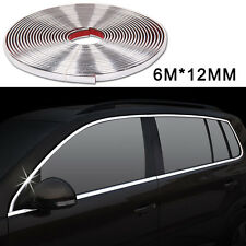 Universal 6M X 12MM Car Styling Moulding Strip Chrome Trim Cover Adhesive Décor