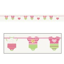 BABY SHOWER Polka Dots Pink ONESIE CUTOUT BANNER ~ Party Supplies Decorations