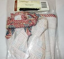 Longaberger Small Fruit Basket OLD GLORY OTE LINER - #23078140 NEW IN BAG