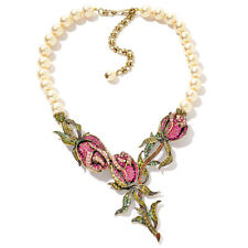 Heidi Daus Climbing Rose Simulated Pearl Necklace