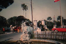 KODACHROME 35mm Slide Florida St. Augustine Street Old Cars Horse Buggy 1959!!!