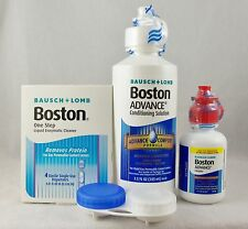 Bausch + Lomb Boston ADVANCE Contact Lens Solution 4 bottles + Enzyme Cleaner