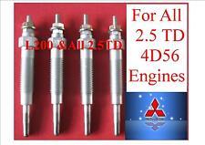 GLOW PLUGS FOR  ALL SHOGUN  MITSUBISHI 4D56  2.5 TD DIESEL&  L200