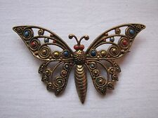 Vintage Deco Czech Butterfly Brooch Pin