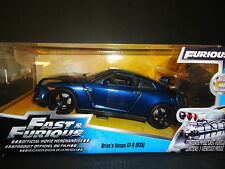 Jada Nissan GT-R R35 Blue Pearl Brian's Fast and Furious 1/24