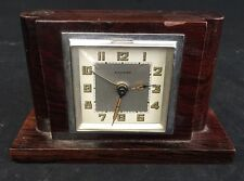 Réveil Bayard Ancien Art Deco French Clock Moderniste Design Vintage