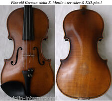 FINE OLD GERMAN MASTER VIOLIN E. MARTIN - video - RARE ANTIQUE バイオリン скрипка 828