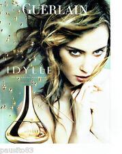 PUBLICITE ADVERTISING 056  2010  Guerlain parfum Idylle pour femme