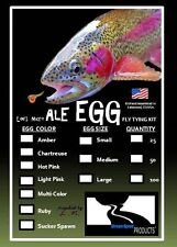 "Lee's ""ALE EGG"" Fly Tying Kit-Realistic Egg Patterns (Multi-colors/sizes,qtys.)"