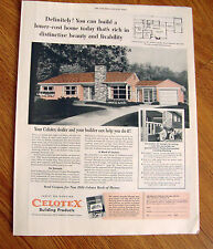 1954 Celotex Building Products Ad  Colotex House No. 25 Architect Wood Rochester