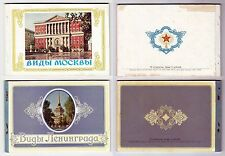 RUSSIA 1956  2 COMPLETE BOOKLETS OF VIEW STATIONERY CARDS