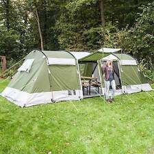 skandika Montana 8 Person Man Family Group Tunnel Tent 5000mm Column Netting New