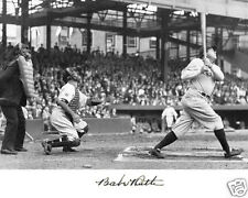 Babe Ruth New York Yankees Swinging Facsimile Autgraph 8 x 10 Photo Picture #bs2