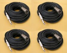 "4 x 50Ft XLR 3-Pin Male to 1/4"" Mono Plug Mic Microphone Audio Cord Cable 50' Ft"