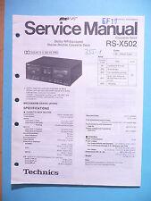 Service Manual-Istruzioni per Technics rs-x502, ORIGINALE