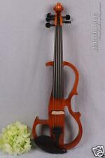 New 4/4 Electric Violin 5 string Silent Pickup solid wood Powerful Sound #1396