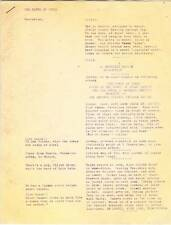 1960s fanzine 5 page CAVES OF STEEL script, Isaac Asimov - Chicago Sci-Fi League