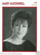 MARY McDONNELL ACTRICE ACTRESS FICHE CINEMA USA 90s