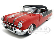 1955 PONTIAC STAR CHIEF CLOSED CONVT PLATINUM R/BK 1:18 MODEL BY SUNSTAR 5054