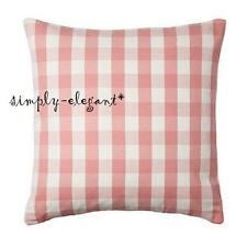 "New IKEA Cushion cover Pillow Cover Smanate 20 x 20"" White Pink Check"